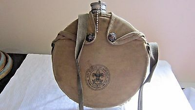 Vintage Boy Scouts of America Canteen with Canvas Carrying Case/ Bag 50-60's ??