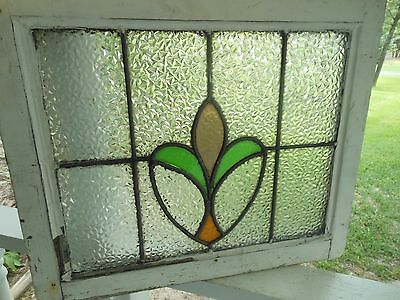 L313A Very Pretty Older Leaded Stained Glass Window From England