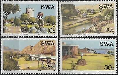 SOUTH WEST AFRICA 1987 Sc#586-9 RESORTS MNH COMPLETE SET 0823