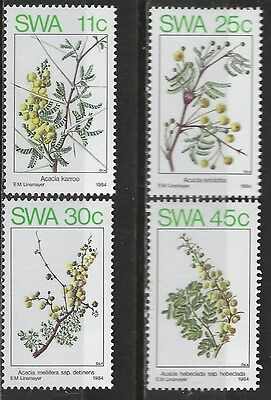 SOUTH WEST AFRICA 1984 Sc#532-5 SPRING FLOWERING TREES COMPLETE MNH SET 0869