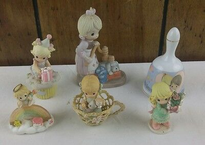 Lot of 5 Precious Moments Figurines With Love one another Bell REMstar CPAP