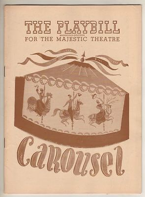 """Carousel""   Broadway   Playbill  1946   Howard Keel, Iva Withers, Jean Darling"