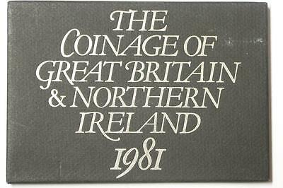 1981 COINAGE OF GREAT BRITAIN AND NORTHERN IRELAND 6 COIN PROOF SET #6268 med