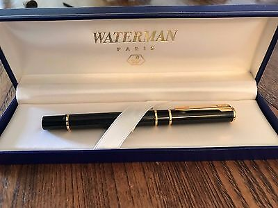 Waterman Blue And Gold Rollerball Pen W/box