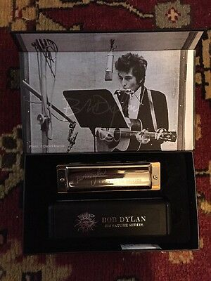 BOB DYLAN Harmonica MINT. Hohner Germany Collectors Signature Series