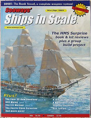 Save on Lot of 5 Seaways' Ships in Scale 2009 Model Ship Builder Mags