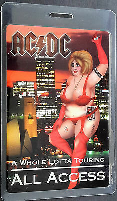 ***** Ac/dc ***** Laminated Concert Tour Backstage Pass - All Access - 2001