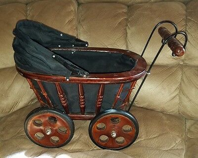 Primtive Decorative Wooden Baby Buggy/Carriage