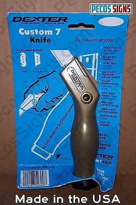 Dexter Custom #7 Utility Knife Handle w/2 Blades Lifetime Guarantee Made in USA