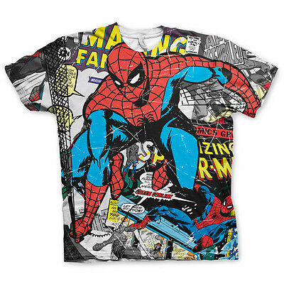 Spiderman T-Shirt Comic Allover Print