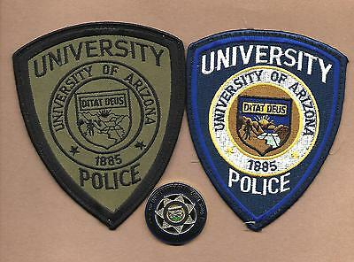 Arizona- 2 Patches Univ Of Arizona  -Color & Subdued And Challenge Coin-Nice Set