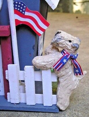 Soft Coated Wheaten Terrier  pair PATRIOTIC HOUSE!