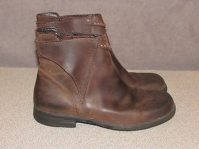 LL BEAN Brown Leather Riding Ankle Boots Women's Size 8 M