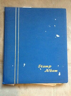 Vintage Stamp Album And Stamps
