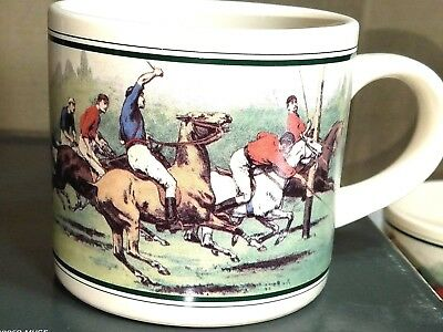 VINTAGE In Box Polo Ralph Lauren Thoroughbred Mugs Set of 4 Coffee c1978