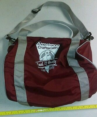 Vintage Armstrong Craftsmen Tools? Advertising Seal of Quality Duffle Bag Rare