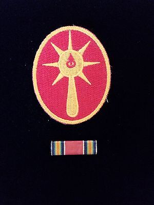 """WW-2-108 Infantry Division """"GHOST"""" Military Patch and VictoryRibbon Bar"""