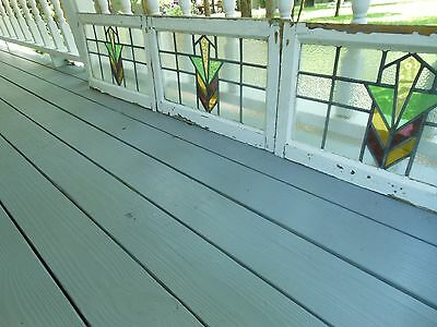 DUR-140 Older Transom Style Leaded Stained Glass Window F/England 3 Available