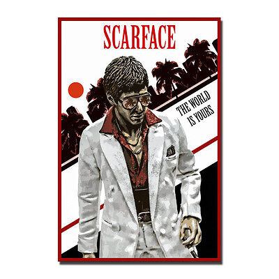 Al Pacino Scarface Poster Classic Movie Art Silk Poster Print 12x18 24x36 inch