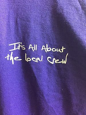 Shania Twain Concert UP 2003/2004 Crew Tshirt Purple Original