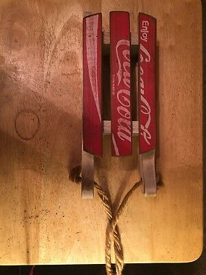 Coca Cola Wooden Handcrafted Sled