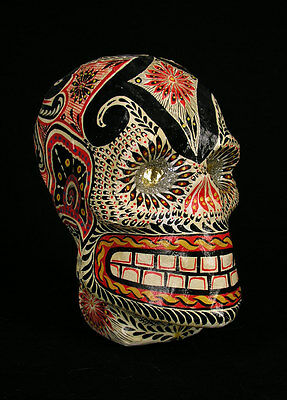 Incredible Mexican Day Of The Dead Skull! One Of A Kind!