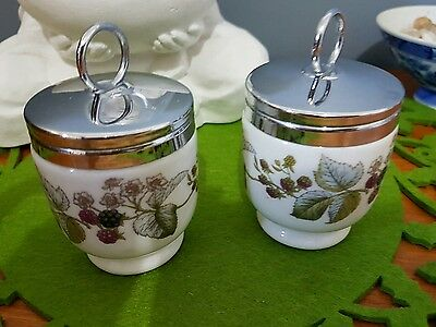 Royal Worcester 'Lavinia' Egg Coddlers x 2