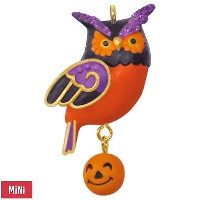 2017 Hallmark Wee Little Owl MINI Halloween Ornament  Jack O'Lantern