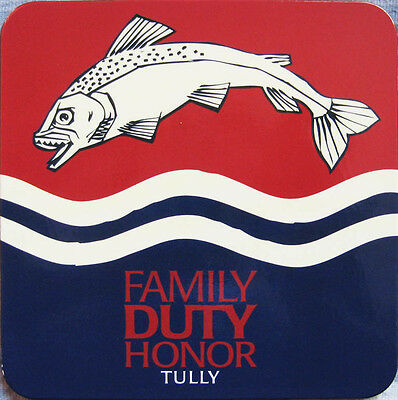 Official Game Of Thrones House Tully Coaster Trout Sigil Family Duty Honor Motto