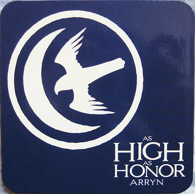 Official Game Of Thrones House Arryn Coaster Falcon And Moon Sigil As High Honor