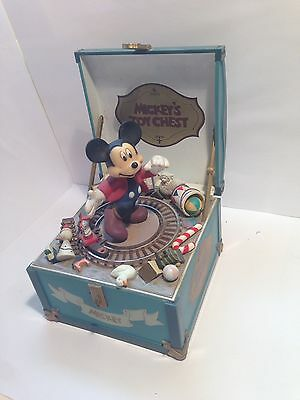 WALT DISNEY company Schmid Mickey's Toy Chest / Music Box * COLLECTABLE * RARE *