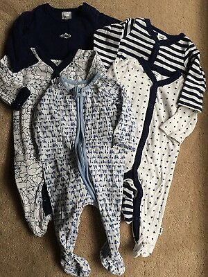 5x baby all in one grow suits size 000