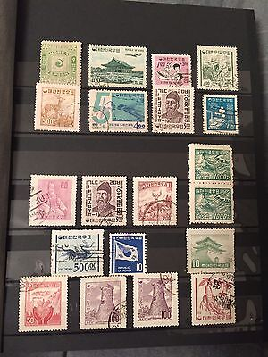 Mixed Lot 239 Republic Of Korea Stamps In Album 1895-1985 Used-Unused Lh