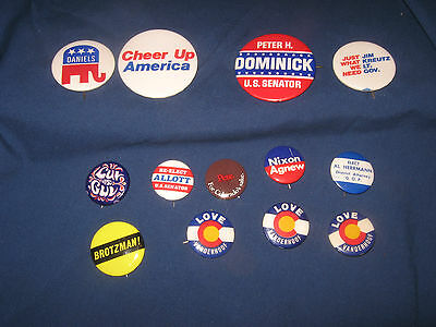 Vtg Mixed Lot Republican Campaign Buttons Pin Backs