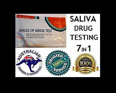 6 x DRUGS OF ABUSE 7 in 1 SALIVA TEST STRIP KITS