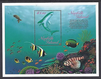 Norfolk 1998 Reef Fishes MS MNH