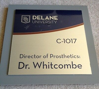 Prison Break Season 5 Tv Production Used Dr. Whitcombe Signage Prop W/ Coa
