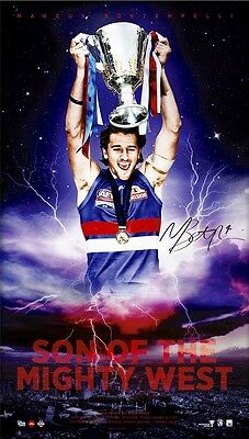 Marcus Bontempelli  SON OF THE MIGHTY WEST  Signed Lithograph  Western Bulldogs