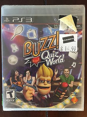 Buzz Quiz World (Sony PlayStation 3, 2009) Game Only New