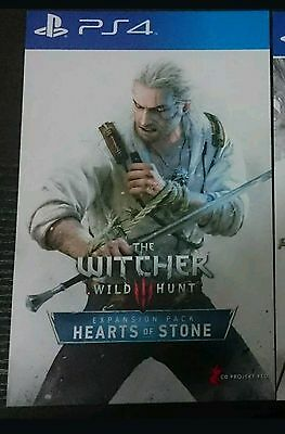 The Witcher 3 III Wild Hunt Expansion Hearts of Stone PS4 DLC code card