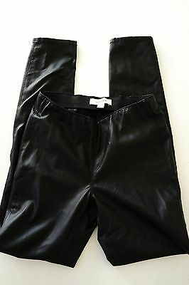 country road 'leather look' skinny black pants…size 4…vgc...