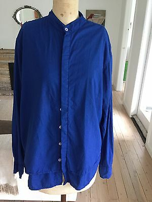 Bassike Cotton Blue Long Sleeved Shirt M