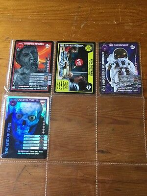 DOCTOR WHO MONSTER INVASION TRADING CARD -bundle Of 4 Ultra Rare