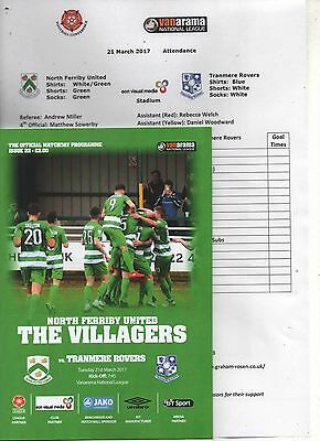 16/17 North Ferriby United v Tranmere Rovers   (+ Teamsheet)