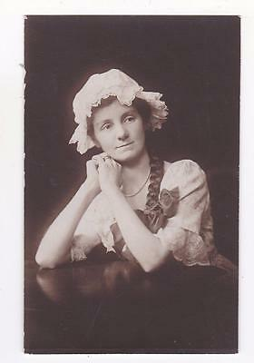 Signed C C Kenworthy As Dorothy 1919 Actress Am Dram Real Photo Postcard