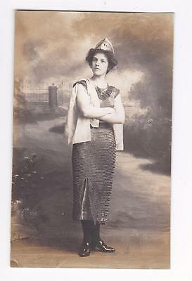 Denton Unknown Actress Amateur Dramatics Real Photo Postcard