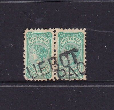 *VICTORIA.POSTMARKS on ½d GREEN BANTAM PAIRS.Pacquebot.*
