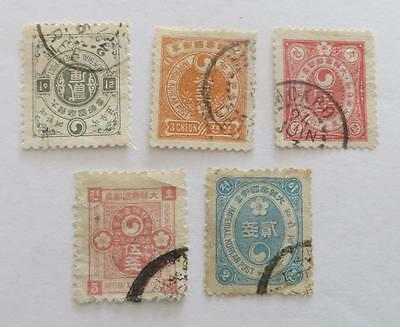 Korea 1900 National Emblems small collection used