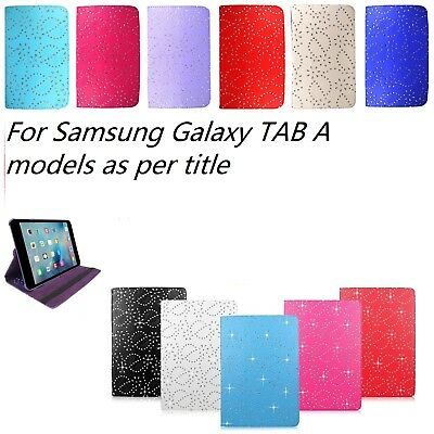 """360 DIAMOND BLING SPARKLE case cover Samsung GALAXY TAB A 8"""" SM-T350 T355 T351"""