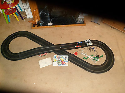 scalextric-track, instructions, cars and bits